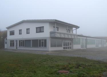 -Erstunterkunft im Gewerbegebiet von Viechtach. Foto: Langer/Landkreis Regen