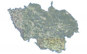 Luftaufnahme vom Landkreis Regen, Foto: Landratsamt Regen