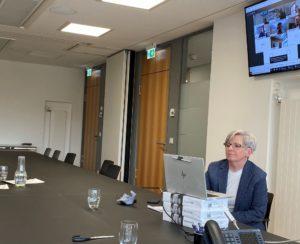 Austausch zum ÖPNV am virtuellen runden Tisch mit Verkehrsministerium. Foto: © Brunner/Landkreis Regen