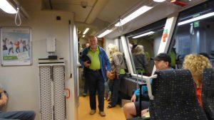 Abfahrt 0358 am 12.09.2016 Dieter Seipel der Vater der Waldbahn-Kreuzfahrten, Foto Wibmer