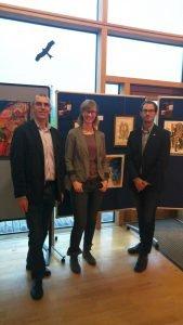 Organisator Matthias Wagner (li.), Eva Paternoster und Amtsarzt Dr. Bernhard Edenharter. Foto: Müller/Landkreis Regen