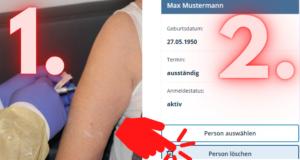 Unser Bild zeigt, dass das Löschen nur ein Knopfdruck im Onlineprogramm BayIMCO wäre. Screenshot: Wölfl/Landkreis Regen