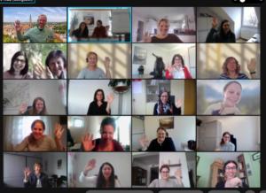 Der Screenshot zeigt die Teilnehmer des Onlineaustauschs. Foto: Kreuzer/Landkreis Regen