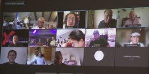 Die Teilnehmer diskutierten online. Foto: Langer/Landkreis Regen