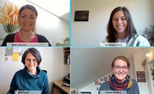Unser Bild zeigt vier der erfahrenen Fachkräfte beim jüngsten Online-Austausch.