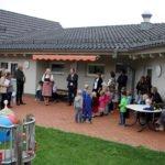 In der Kinderkrippe durften die Gäste wieder einem Lied lauschen. Foto: Langer/Landkreis Regen